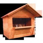 Elárusító faház, boros faházak